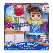 Boneca Baby Alive Bebê Comidinha Feliz Morena  E4895 - Hasbro