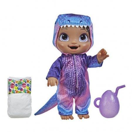 Boneca Baby Alive Dino Cuties Negra - Hasbro F0935