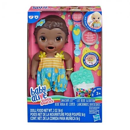 Boneca Baby Alive Lanchinhos Divertidos Negra - Hasbro E5839