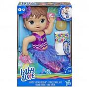 Boneca Baby Alive Linda Sereia Morena E3691 - Hasbro