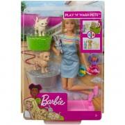 Boneca Barbie Banho de Cachorrinhos - Mattel FXH11