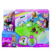 Boneca Barbie Chelsea Futebol com Cachorrinhos Mattel GHK37
