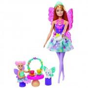 Boneca Barbie Dreamtopia Dia de pets Festa do Chá - Mattel GJK49