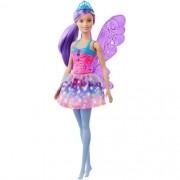 Boneca Barbie Dreamtopia Fada Cabelo Roxo - Mattel GJJ98