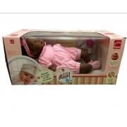 Boneca Bebê Real Recém Nascida Negra - Roma 5078