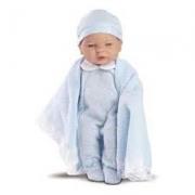 Boneca Bebê Roma Babies Saída da Maternidade Azul Roma 5058