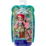 Boneca Fashion e Pet Enchantimals Fanci Flamingo e Swash - Mattel FNH22