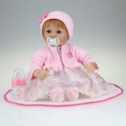 Boneca Kikita Doll Reborn Ruiva Com Chupeta B - Fenix