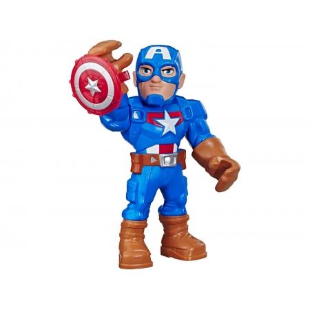 Boneco Super Hero Adventures Capitão América - Hasbro E7105