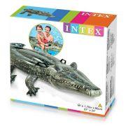 Bote Inflável Formato De Crocodilo 57551 - Intex