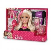 Busto da Barbie Styling Head Hair Preto - Pupee 1264