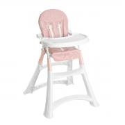 Cadeira de Alimentação Alta Premium Sand Rosa - Galzerano 5070SND