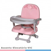 Cadeira de Alimentação com Elevatório Rosa Vic - Galzerano 5095RS