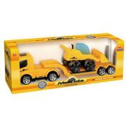 Caminhão Mamute Prancha Com Carregadeira 294 - Usual Brinquedos