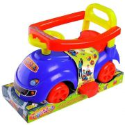 Carrinho Andador Com Haste Toy Walk Azul Mk193 - Dismat