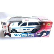 Carro de Controle Suv Policia 7 Funções Branco Zft008 - Art Brink