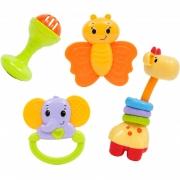 Conjunto de Chocalhos Baby Fun 10650 - Buba