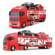 Diamond Truck Cegonheira Com 4 Pickup  Vermelho 1321 - Roma