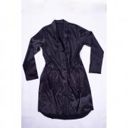 Kimono Preto cetim com botões forrados Porta Joia Tamanho P
