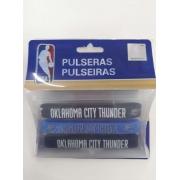 Kit C/3 Pulseiras de Silicone NBA Oklahoma City Thunder - Maccabi 7199