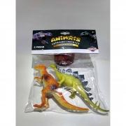 Kit Mini Dinossauros Plastico 2 Peças Toyng
