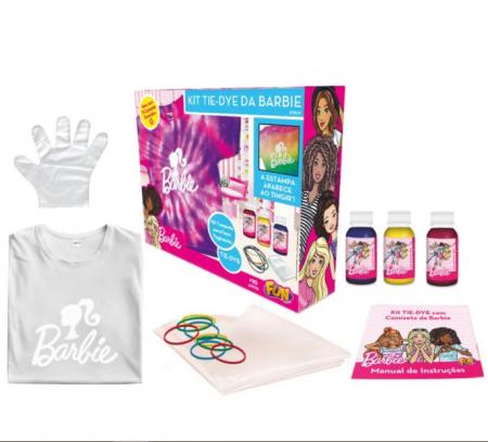 Kit Tie Dye Barbie Camiseta Tamanho G - Fun F00536