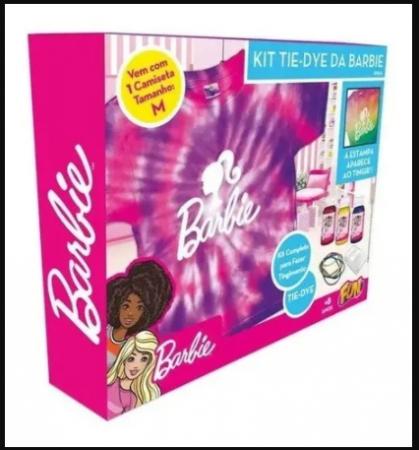 Kit Tie Dye Estampa Barbie Camiseta Tamanho M - Fun F00535