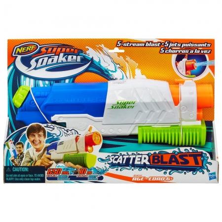 Lançador de água Nerf Soaker Scatter Blast - Hasbro A5832