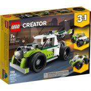 Lego Creator 3 em 1 Veiculo Caminhao Foguete 198 Peças - 31103