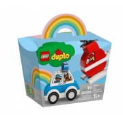 Lego Duplo Helicóptero dos Bombeiros e Carro da Polícia - Lego 10957
