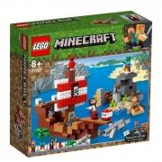 Lego Minecraft Aventura no Navio Pirata - 21152