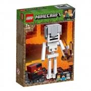 Lego Minecraft Grande Esqueleto com Cubo de Magma 21150