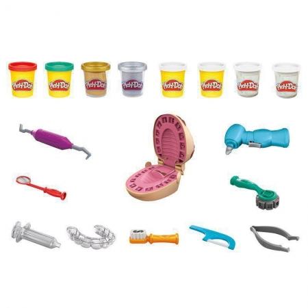 Massinha Play Doh Brincando de Dentista - Hasbro F1259