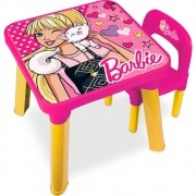Mesa Com Cadeira Barbie - Fun BB6000