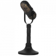 Microfone De Resina Vintage - Lunne 29841