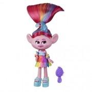 Mini Figura com Acessórios Trolls World Tour Glamour Poppy - Hasbro E6569