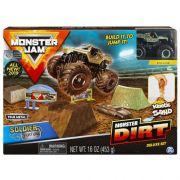 Monster Jam Playset c/ Massa Areia Soldier Fortune Monster Dirt - Sunny 2024