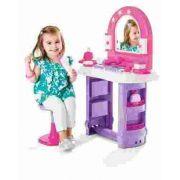 Penteadeira Infantil Miss Glamour Com Banquinho 320 Rosa - Calesita