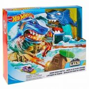Pista Hot Wheels City Batalha Na Praia Do Tubarão FNB21 Mattel