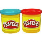 Play Doh Massinha 2 Potes Azul E Vermelho 23656/23655 - Hasbro