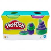 Play Doh Massinha 2 Potes Verde E Roxo B8521/23655 - Hasbro