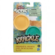Play Doh Slime Krackle Laranja e Verde - Hasbro E8788/E8811