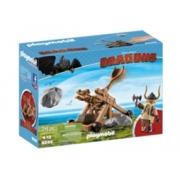 Playmobil DreamWorks Dragons Gobber com catapulta Playset 9245