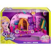 Playset e Mini Boneca  Polly Pocket  Quarto da Polly FRY98 Mattel