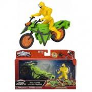 Power Rangers Veiculo com Ranger Amarelo Sunny 1824