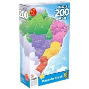 Quebra-cabeça 200 Peças Mapa do Brasil - Grow 3936