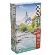 Quebra-cabeça 500 Peças Riacho nos Alpes - Grow 3966