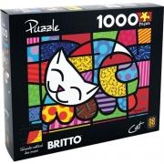 Quebra Cabeça Cat Romero Britto 1000 peças - Grow 3264