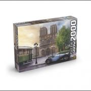 Quebra Cabeça Catedral Notre Dame 2000 Peças - Grow 3745