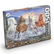 Quebra Cabeça Cavalos Selvagens 1500 Peças - Grow 3744